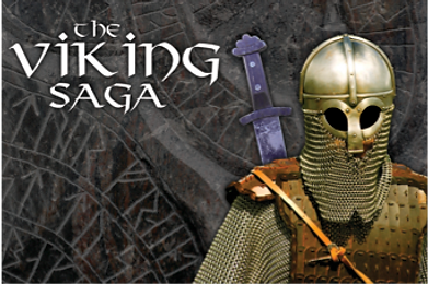 The logo for the Sabre team building event Viking Saga