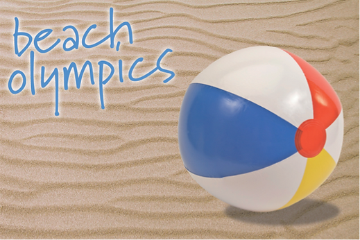 The logo for sabre's beach Olympics team building challenge