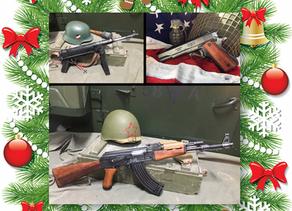 Replica guns and militaria make better Christmas gifts than 'socks and jocks'