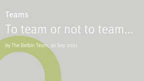 To team or not to team...