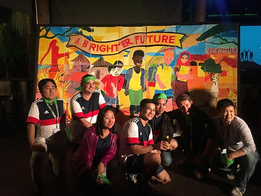 Painting a Brighter Future is a team building challenge by Sabre