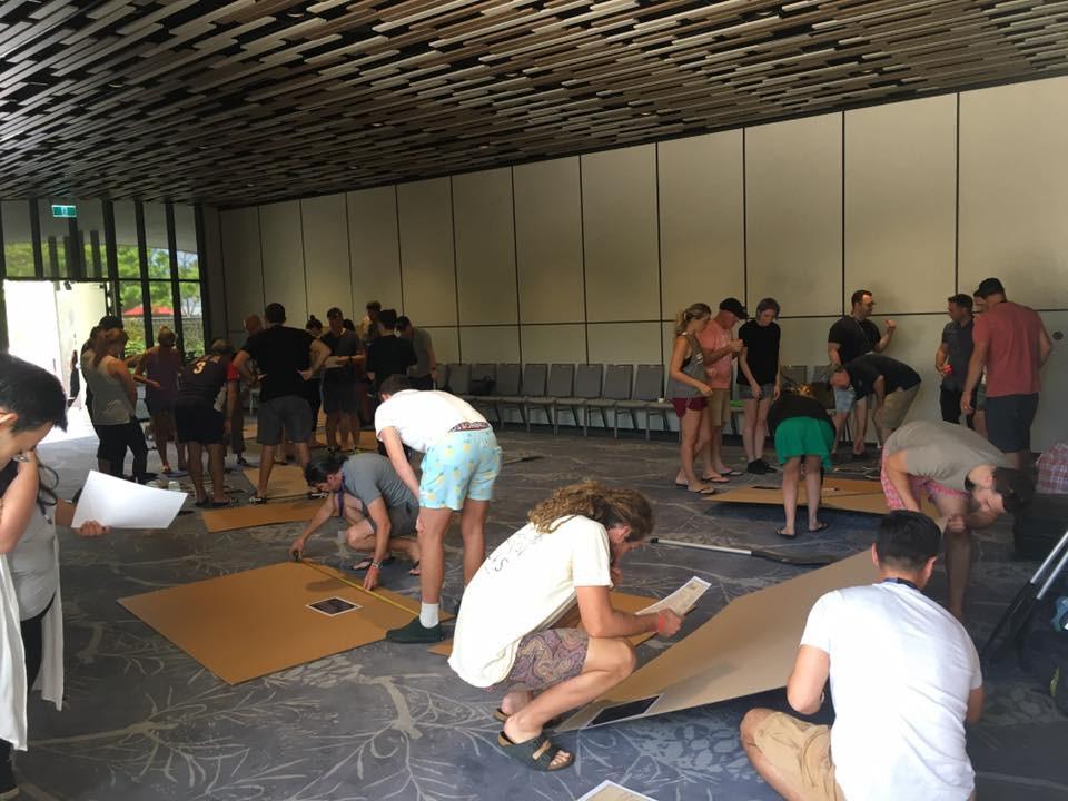 Indoor team building by Sabre