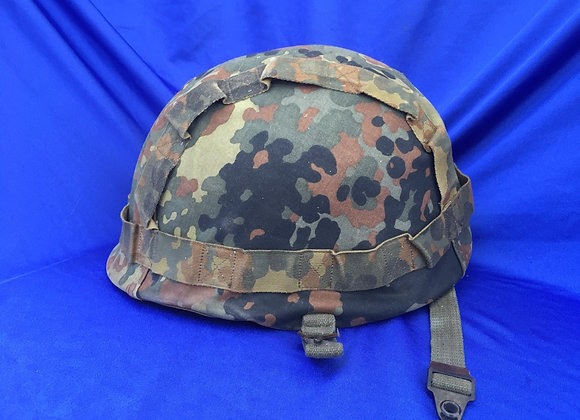 West German Helmet M62 (MIAI) with reversable flecktarn cam cover