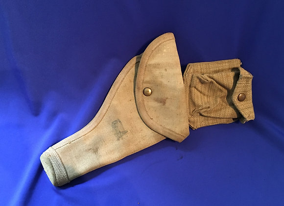 WW2 Aus / Brit Webley Holster and Ammo Pouch