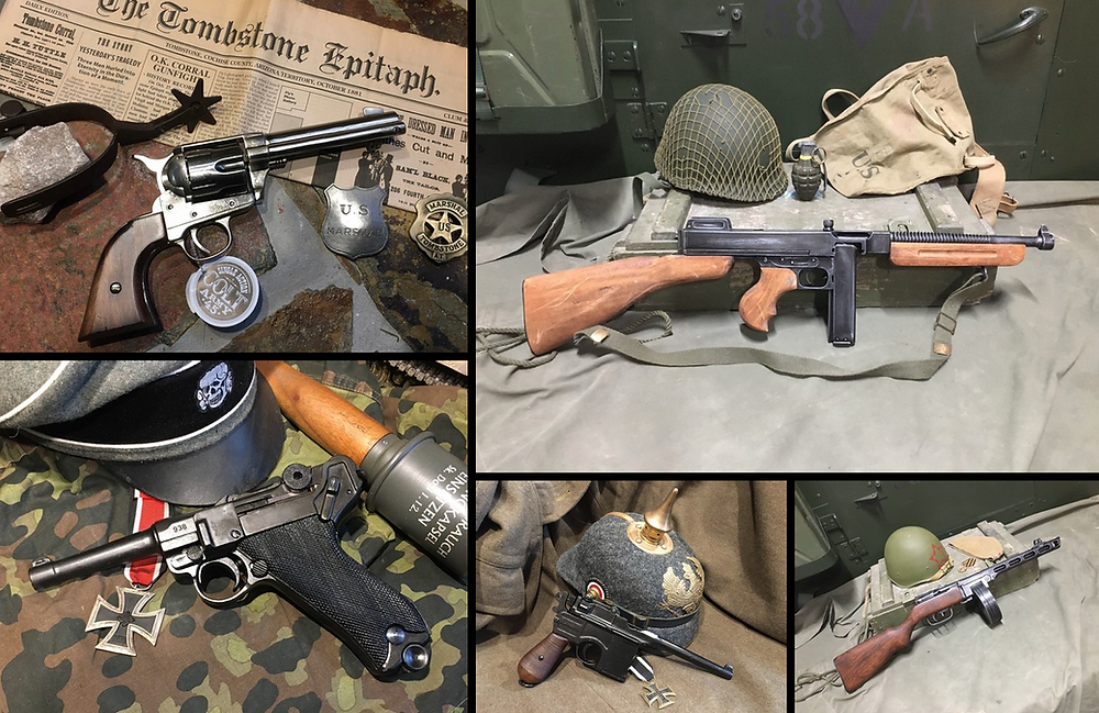 Sabre Militaria stocks a large range of Denix replica guns including pistols, rifles and machine guns.