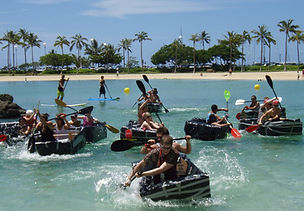 A team building boat race for McDonalds by Sabre at the Hilton Waikiki Hawaii