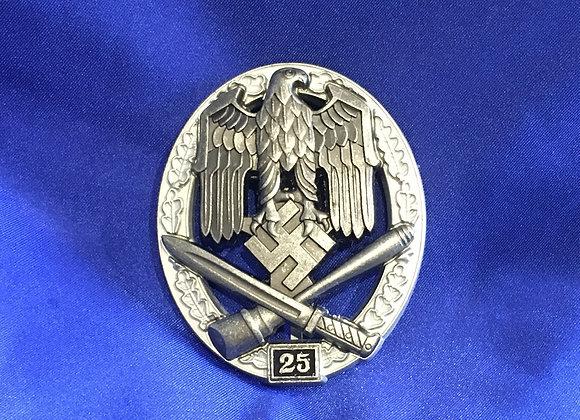 WW2 German General Assault Badge 25 (Reproduction)