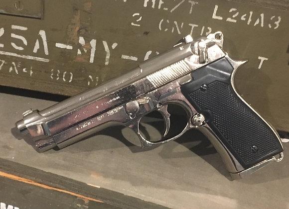 Beretta 9mm 92F Chrome Finish