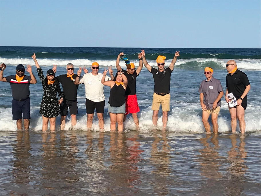Team building on Sydney beaches