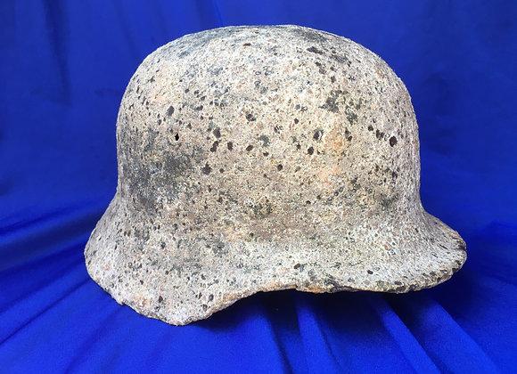 WW2 German M40 Helmet Kharkov relic with snow cam