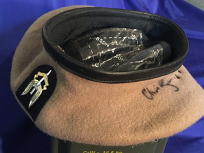 SAS Beret and Stable Belt signed by 'The One That Got Away' Chris Ryan