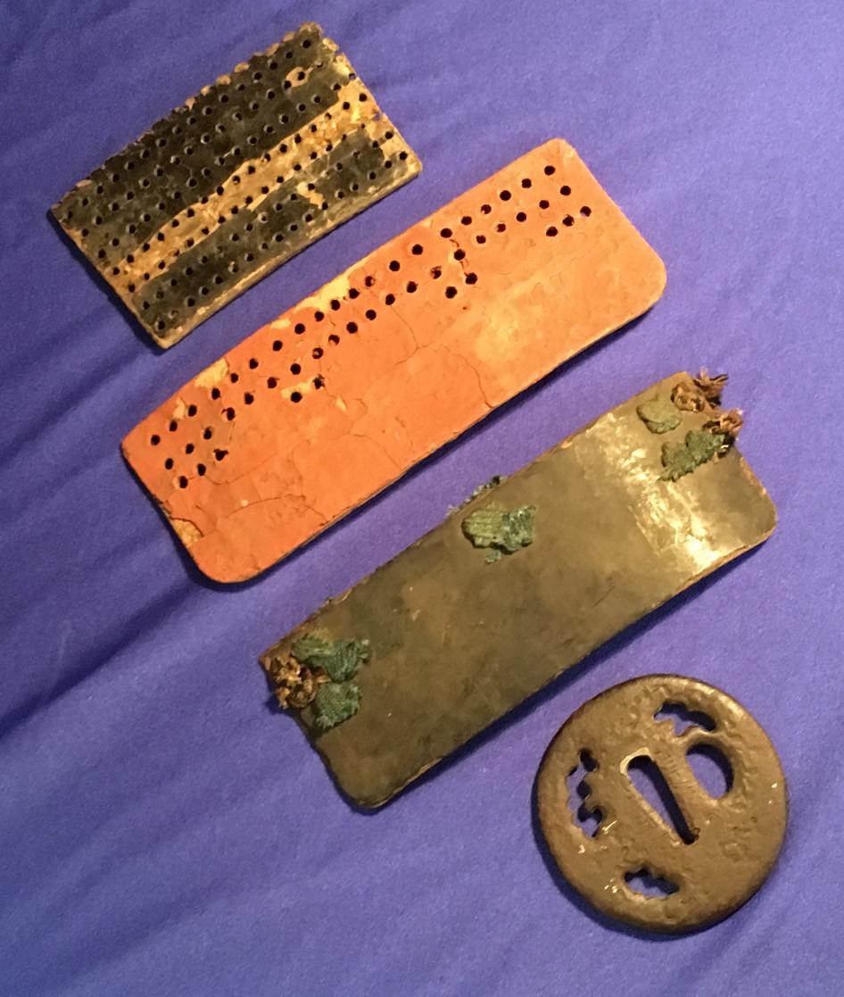 Japanese Samurai Armour and Tsuba from Sabre