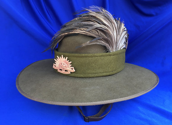WW1 Light Horse Slouch Hat Size 58 (current hat and plumes - repro badge)