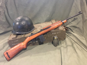 Replica M1 Carbine Rifles in both the early and late WW2 versions