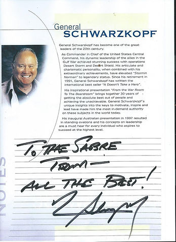General H Norman Schwarzkopf Autograph