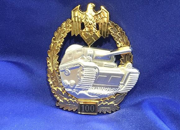 WW2 German Panzer Assault Badge 100 (Reproduction)
