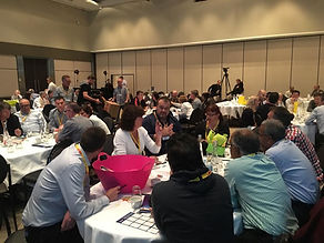 Teams making movies for team building at a Gold Coast conference