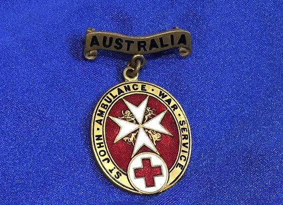 WW1 St. John's Ambulance War Service Badge
