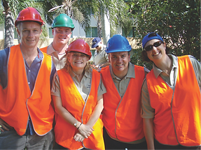 Some happy participants from a local government client in team building mode