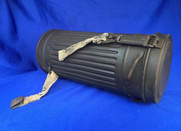 WW2 German gas mask canister (original)
