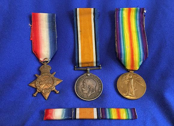 WW1 Medal Group Trio – Corporal Thomas Hurt Brinkworth 3169, 9 Battalion AIF