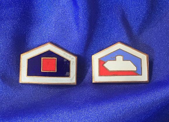 WW2 Australian Unit Sweetheart Badges
