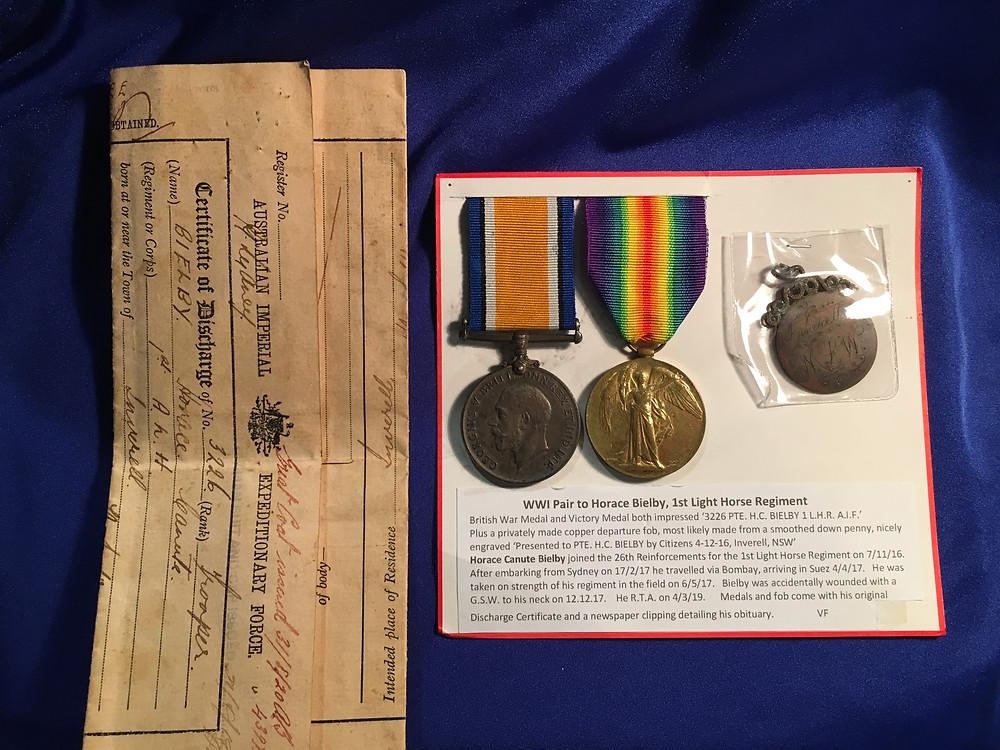 WW1 AIF Medal Pair