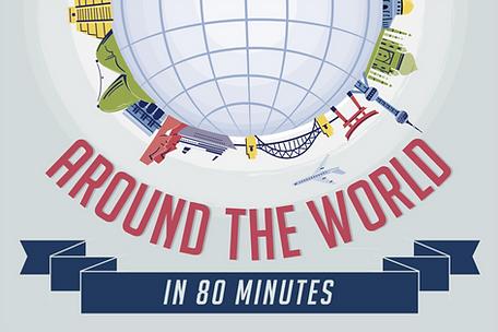 Around the world in 80 minutes team building challenge logo