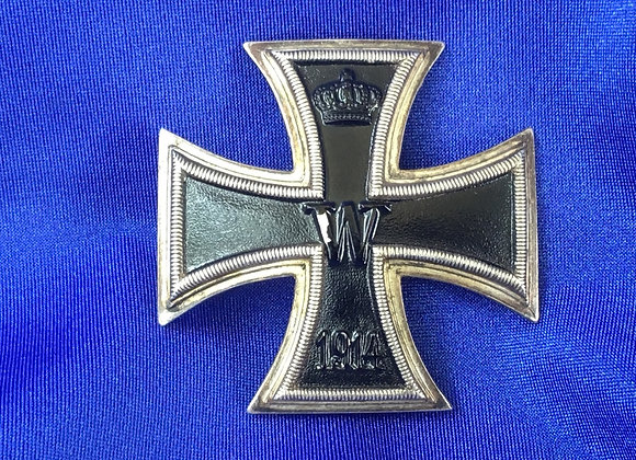 WW1 German Iron Cross, Vaulted and in Silver (original)