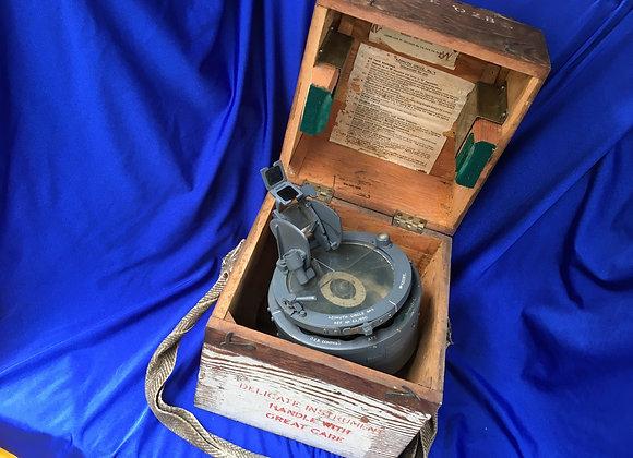 WW2 No4 Azimuth Aeronautical Circle, Pilot's Compass Type 02A in original box