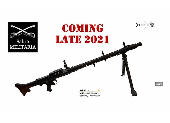 MG34 Machine Gun Replica (September 2021) / Add your name To 'Wish List'