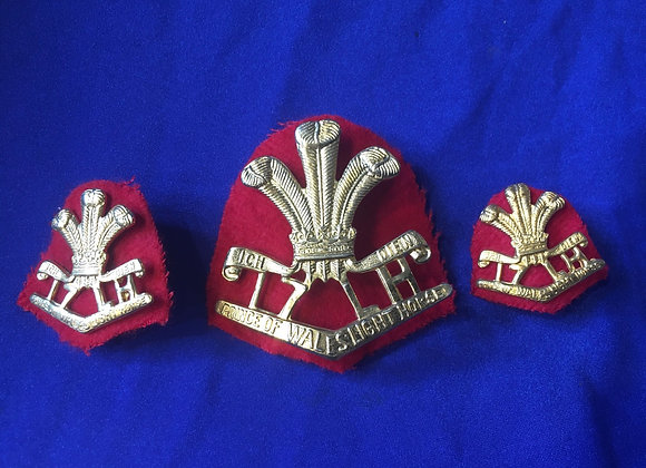 17th Prince Of Wales Light Horse Badge Set (Repro we believe)