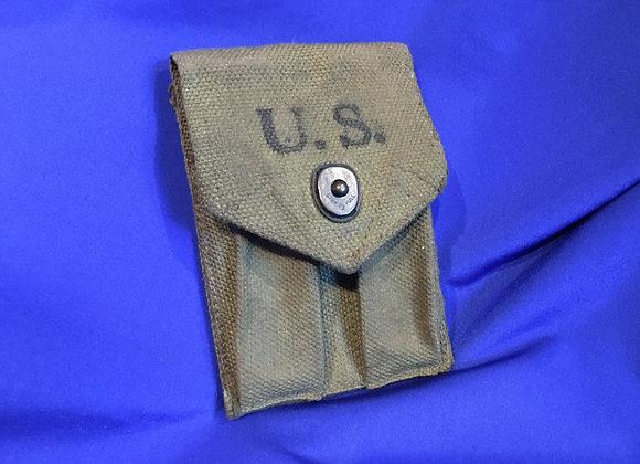 US WW2 Avery Colt .45 Magazine web pouch
