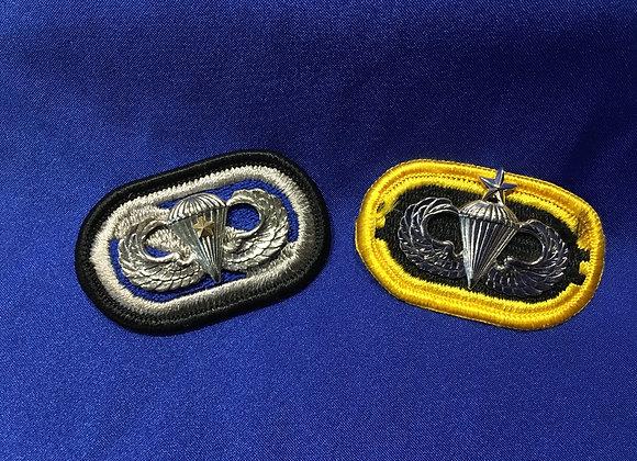 US Army Jump / Parachutist Badges and Flash Pair