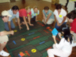 A great mat based team building task during a Mission Possible event