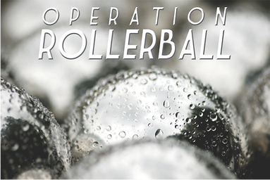 The logo for Sabre team building activity Rollerball