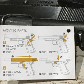 Denix strippable replica Colt moving par