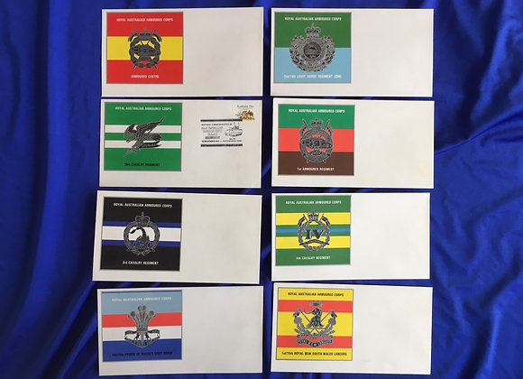 Australian Army / Aus Post RAAC Unit First Day Covers