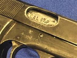 A Denix replica pistol