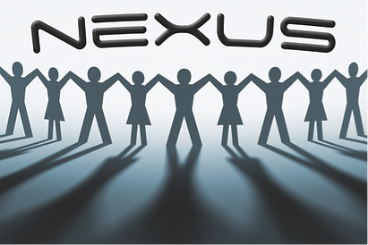 Logo for the team building game Nexus by Sabre