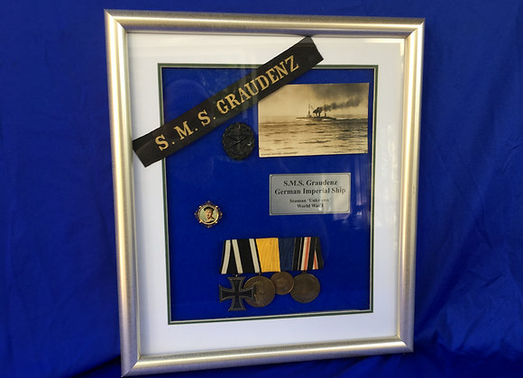 WW1 German Navy framed display