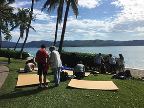 Kon Tiki Boat Building challenge Daydream Island by Sabre Corporate Development