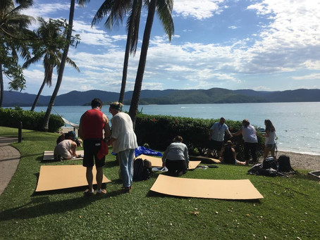 Daydream Island team building with a Survivor theme in the beautiful Whitsundays