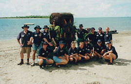 Historic pic of Sabre running team building in Fiji