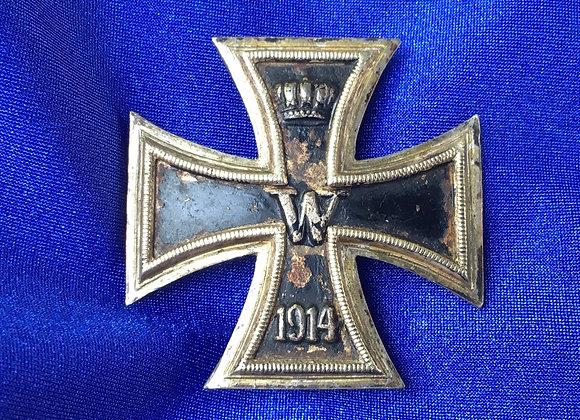 WW1 German Iron Cross First Class (Original)