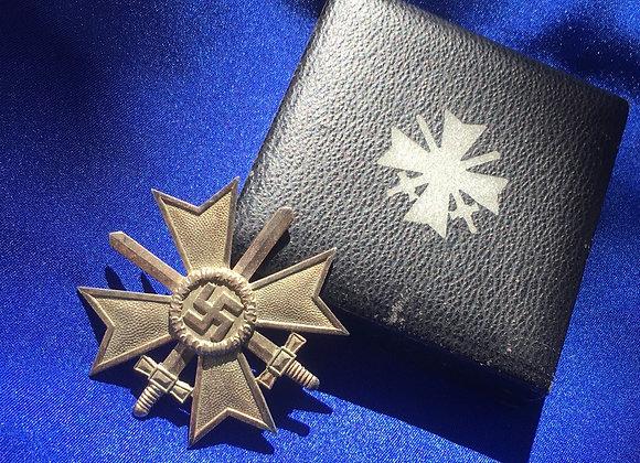 WW2 German War Merit Cross 1st Class with Swords Cased