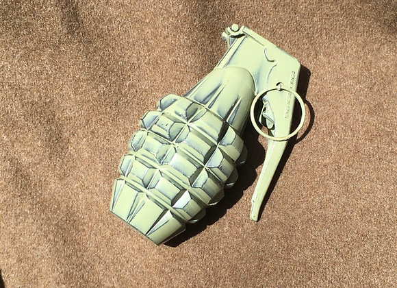 Novelty WW2 US Pineapple Grenade Paperweight (green finish)