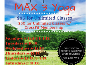 Yoga Coming to Max 3!