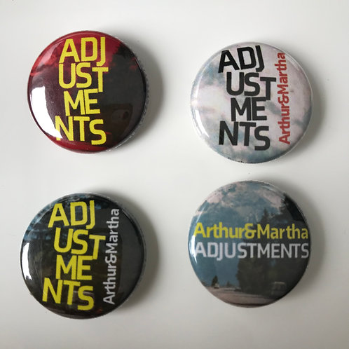 ARTHUR AND MARTHA: Adjustments Badge Set