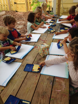 Art time at the Kinderhaus